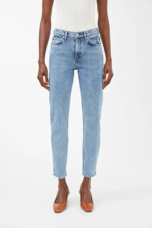 Regular Cropped Stretch Jeans Light Blue Jeans Arket Pl Light Blue Jeans Blue Jeans Jeans