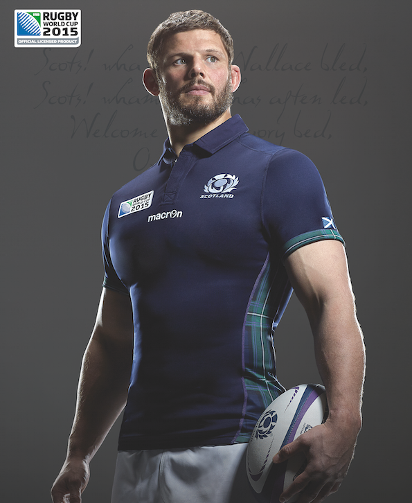 Scotland Rugby Macron Rugby World Cup 2015 Home Shirt Rugby Men Rugby Rugby Players