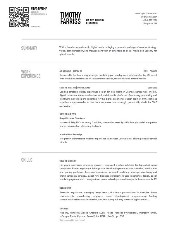 User Experience Designer Resume Farriss Video Resume  Foundresumes Field Tested Resumes Proven .