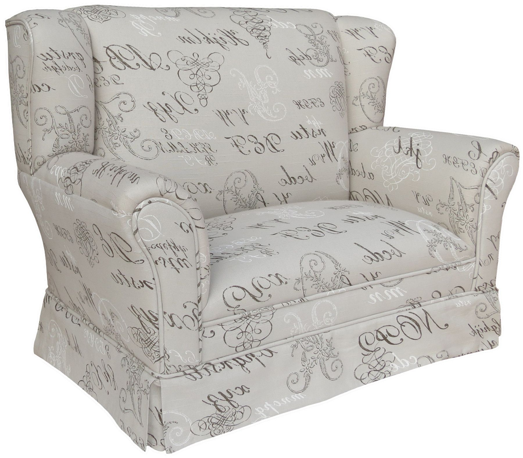 Provence Child Wingback Loveseat Decor Chair Girl Room