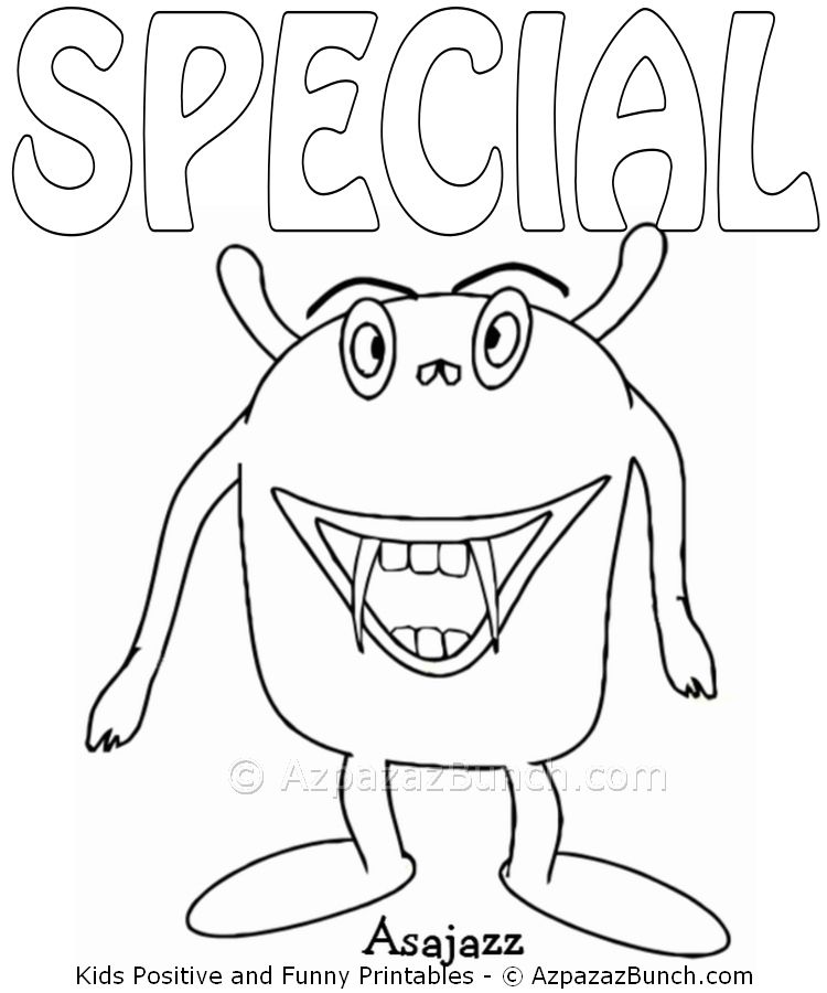 Asajazz Special Printable Coloring Page Childrens Pages