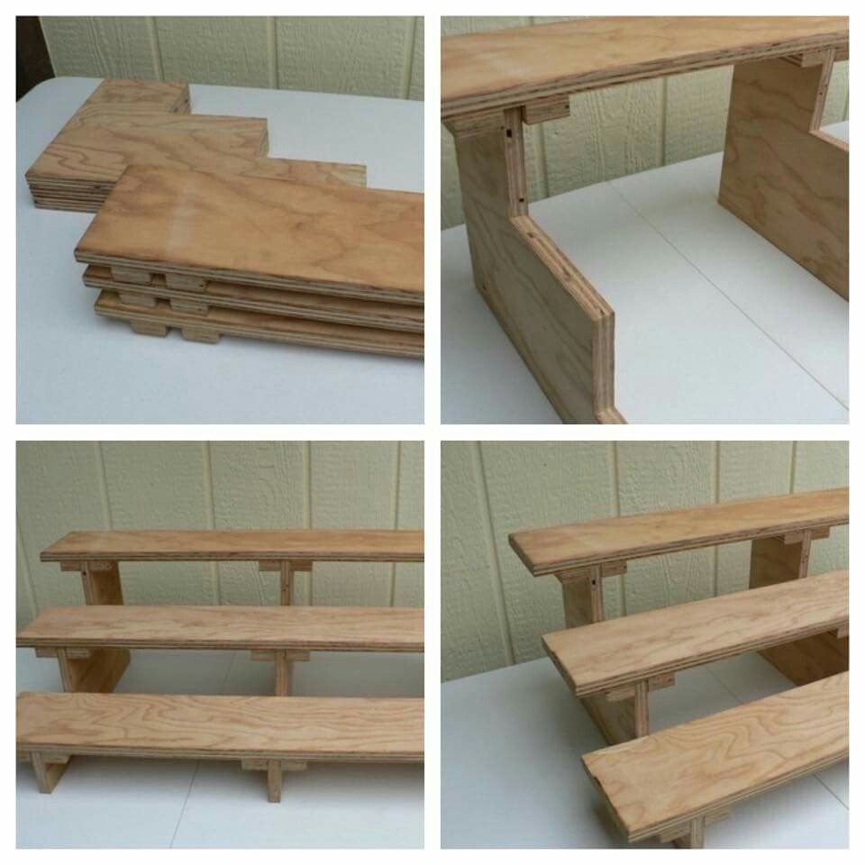 Cool collapsible shelf for display display craft fair Cool wood shelf ideas
