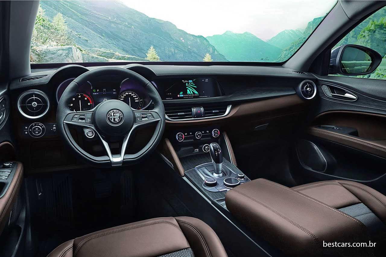 Alfa Romeo Suv Stelvio Traz Vers Es De 210 A 510 Cv Cars Offroad And Car Interiors