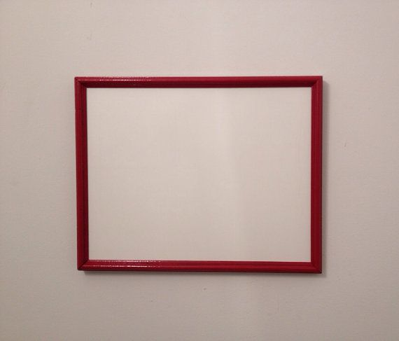 Picture Framed Whiteboard Red Office Dry Erase Board Kitchen