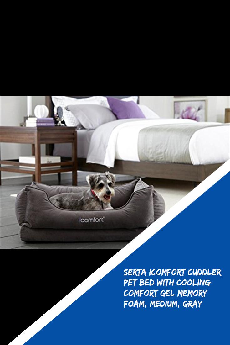 Serta Icomfort Cuddler Pet Bed With Cooling Comfort Gel Memory