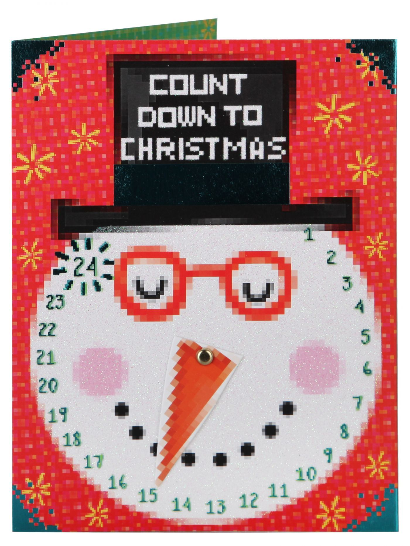 Interactive christmas card snowman calendar with moving clock interactive christmas card snowman calendar with moving clock nose christmas single cards christmas kristyandbryce Image collections