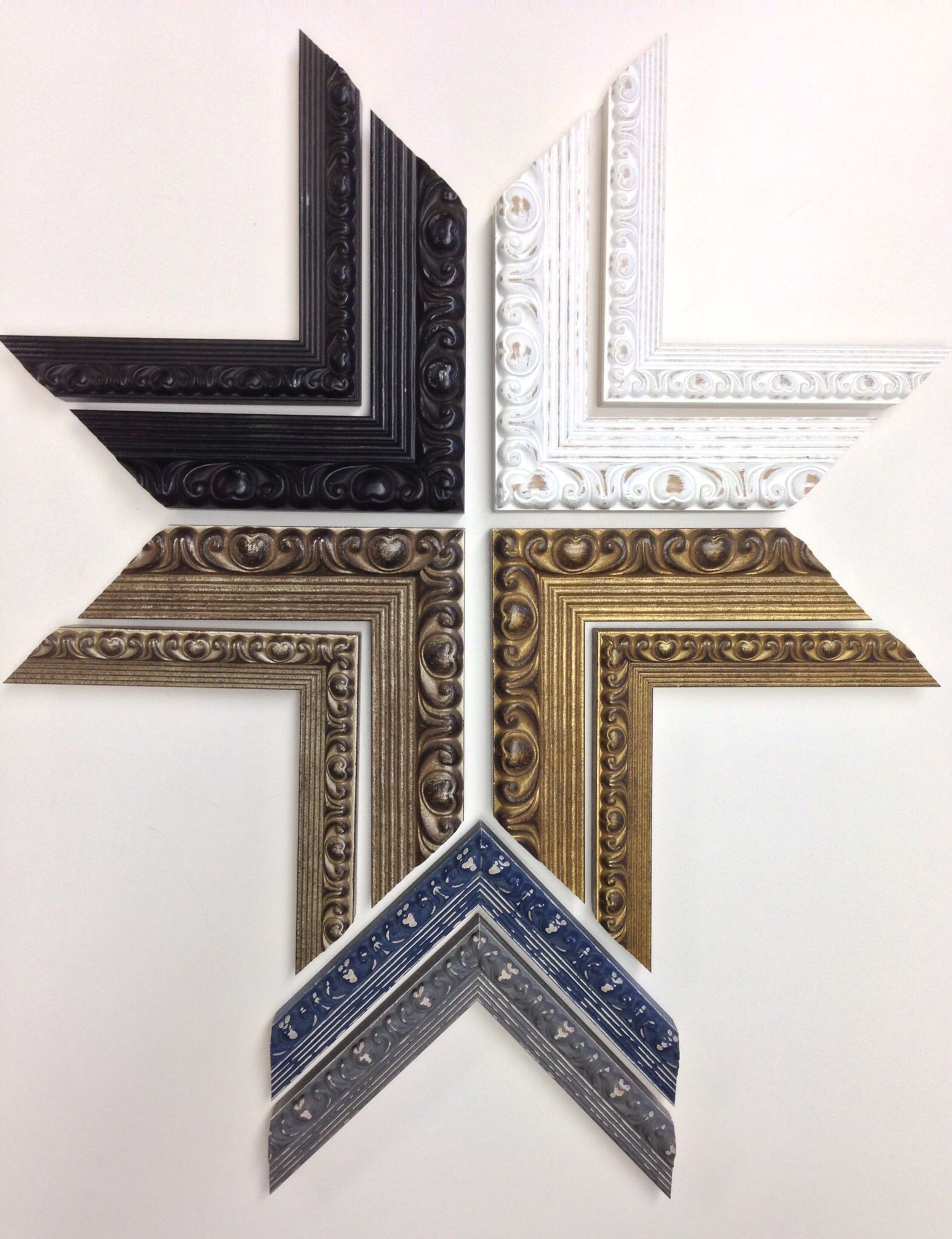 New picture frame samples from the Roma Moulding\'s \