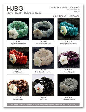 wholesale handmade jewelry tips Sample jewelry linesheet for ...