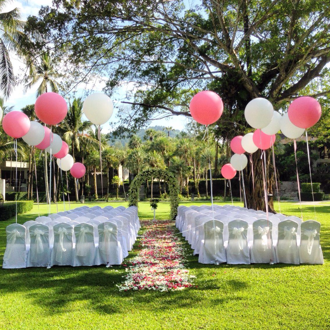 Lovely balloon wedding in garden at Indigo Pearl Phuket   Wedding ...