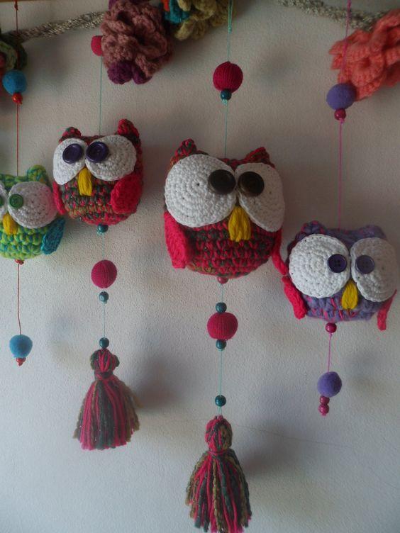 Moviles buho - Crochet - Tejidos de Punto - 516058: | Proyectos que ...