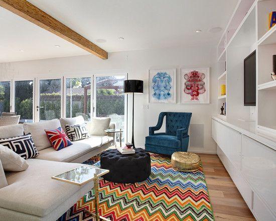 Missoni Chevron  Chevron Area Rugs Modern Living Rooms And Prepossessing Fun Living Room Ideas Design Decoration