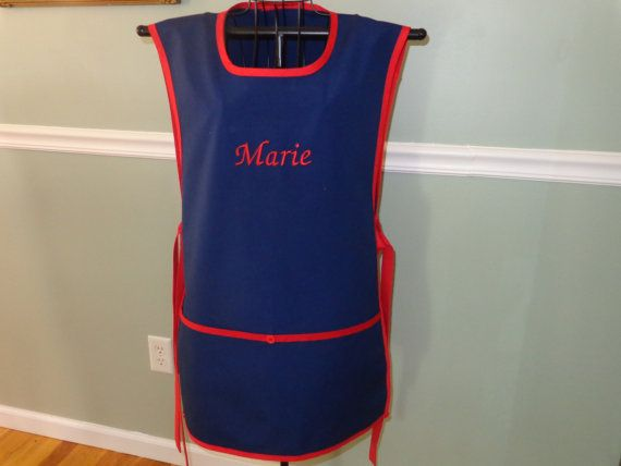 MONOGRAMMED FULL APRON   Ties on the sides  by MariesClassicHome, $30.00
