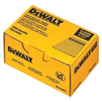 DEWALT 2-1\/2-Inch by 16 Gauge 20-Degree Finish Nail (2,500 per Box - 2 1 degree