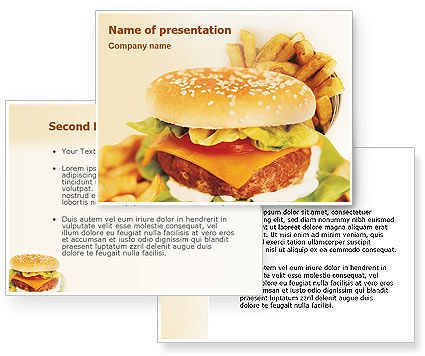 Fast Food Powerpoint Template HttpWwwPoweredtemplateCom