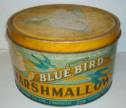 Blue Bird Marshmallow Tin
