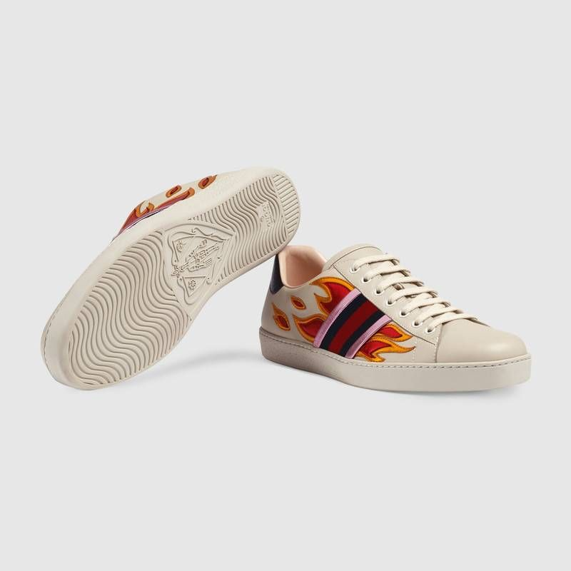 Gucci Ace sneaker with flames Detail 5