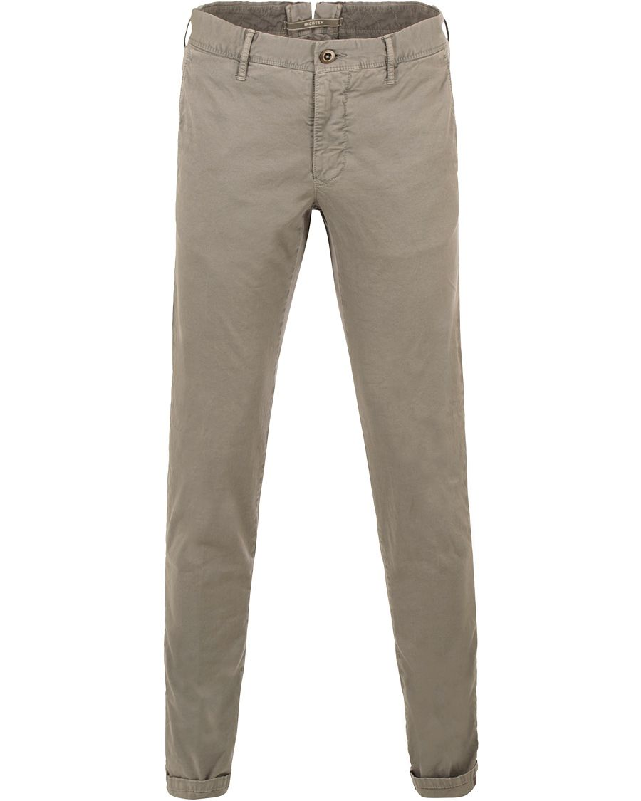 Incotex Slim Fit Stretch Slacks Grey i gruppen Byxor   Chinos hos Care of  Carl (13587611r) 40cbf865a2abf