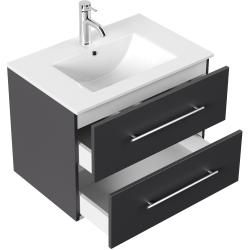 Photo of Bathroom furniture set Firenze 70 (4- piece / B) incl.LED mirror anthracite, satin gloss emotion