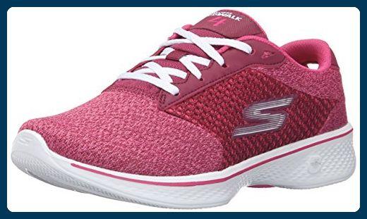 SKECHERS - Damen Sneaker - GO WALK 4 EXCEED - Lila Schuhe in Übergrößen,  Größe