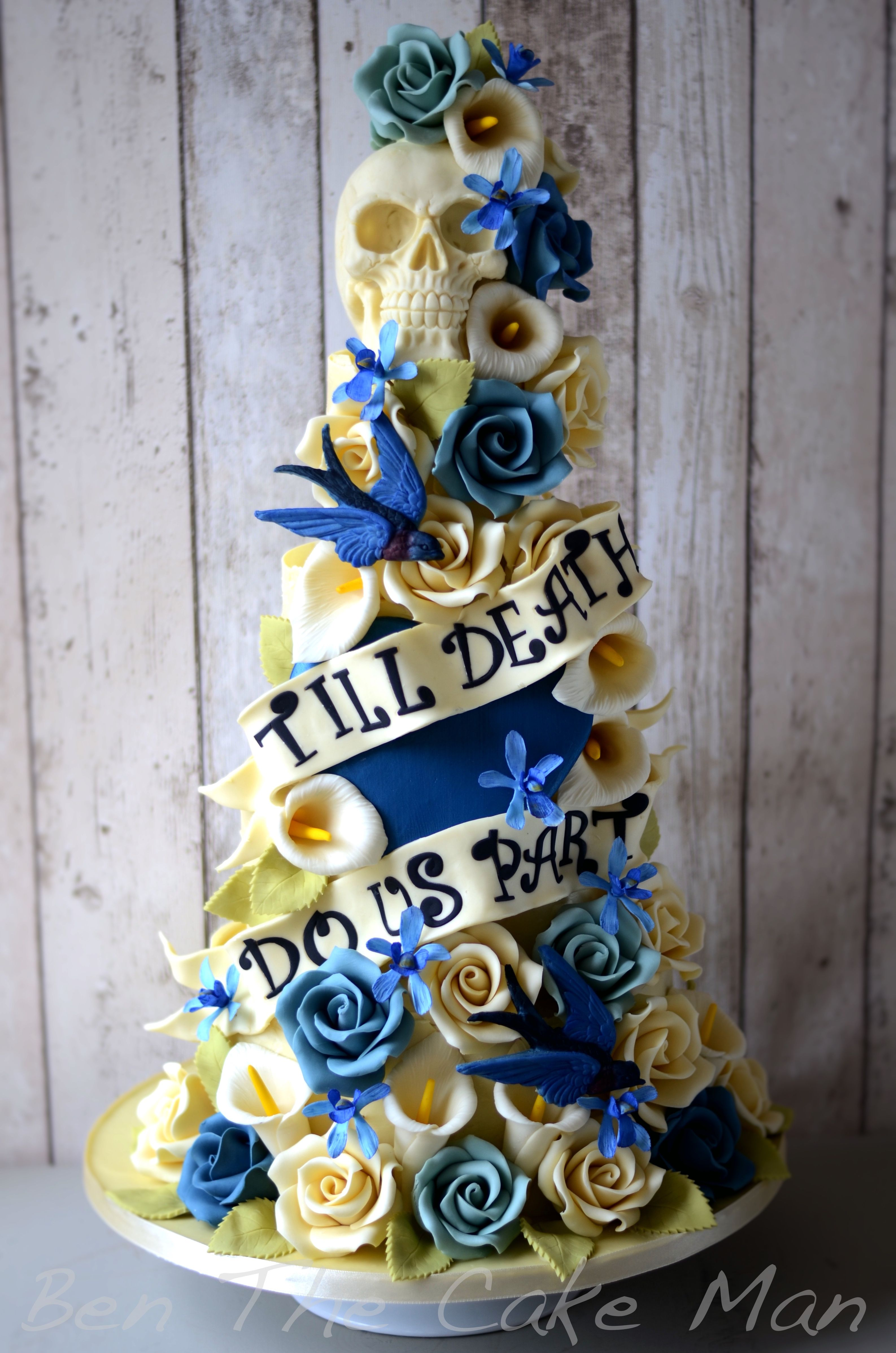 Till Do Us Part Wedding Cake But With Diffe Colors