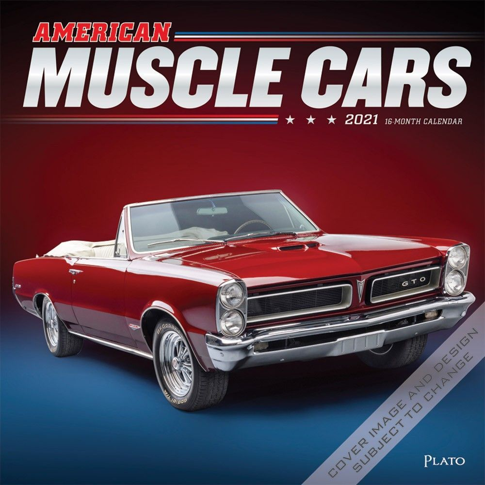 American Muscle Cars 2021 12 x 12 Inch Monthly Square Wall