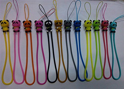 Keychain Onkuey 10 Pack of 7 Inch Hand Wrist Strap Silicone Lanyard String for Cell Phone Key USB Flash Drive Color Assorted