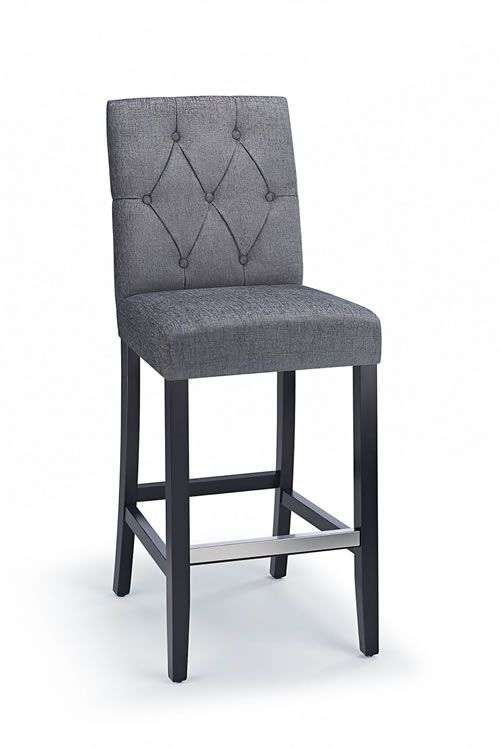 Astonishing Rosco Black Frame Bar Stool Grey Padded Fabric Seat And Back Ocoug Best Dining Table And Chair Ideas Images Ocougorg