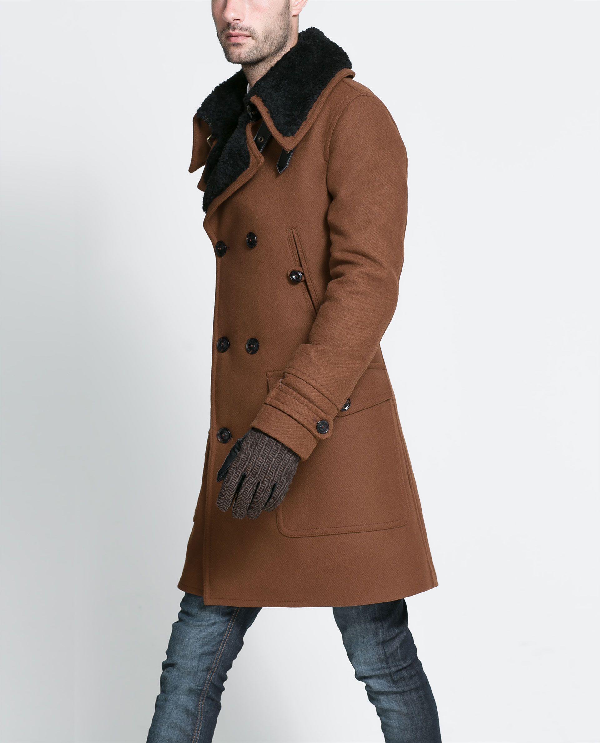 020aabb97b65 COAT WITH FUR COLLAR - Coats and Trench coats - Man