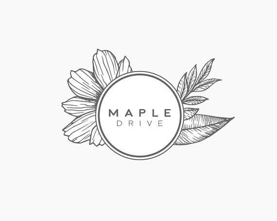Premade Logo, Circle Logo Design, Botanical Logo, Flower Logo, Vintage Logo, Luxury Logo, Beauty Logo, Rustic Logo, Circle Photography Logo