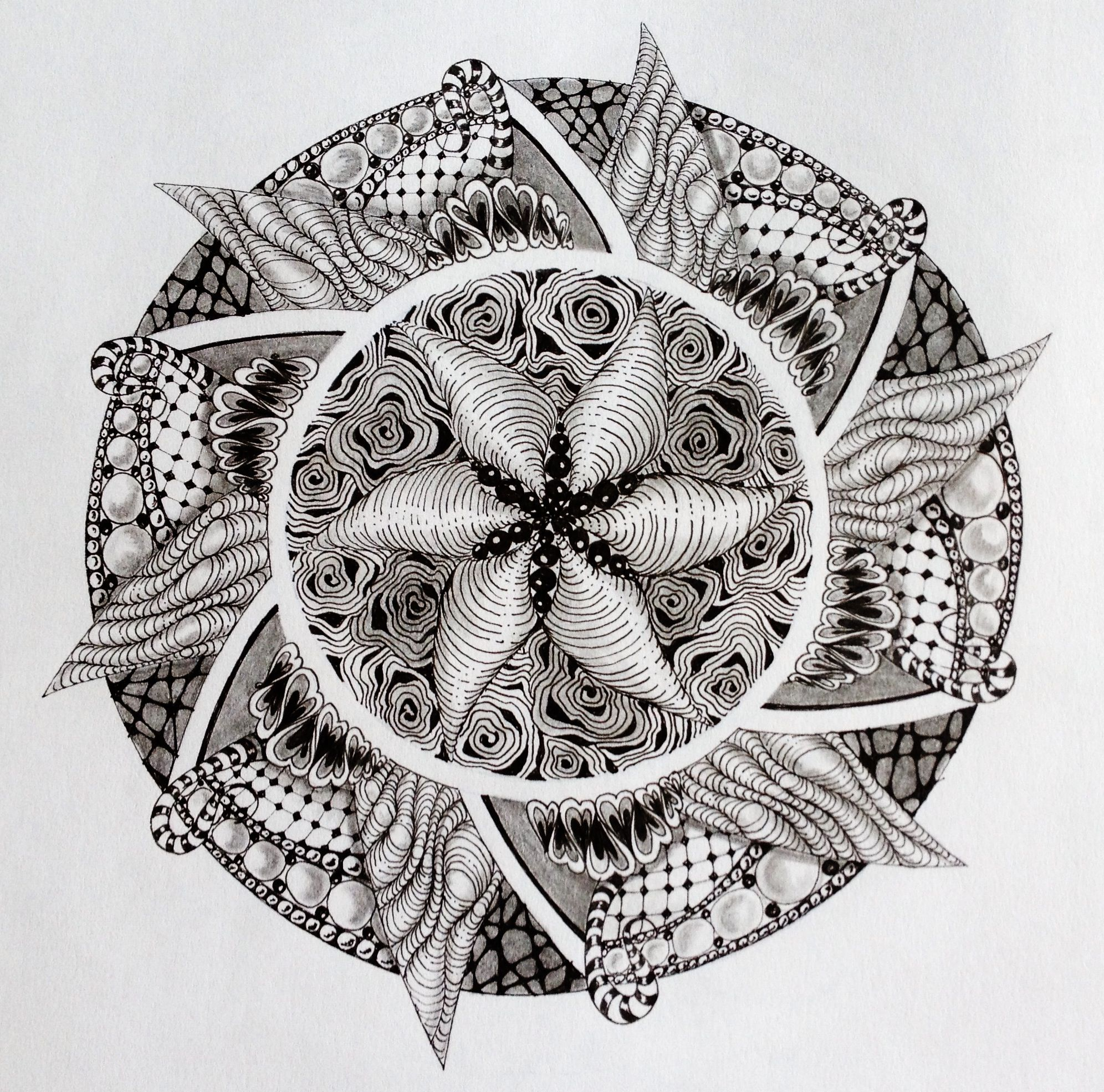 Zentangle Mandala by Sharon Robinson   Coloring Pages ...