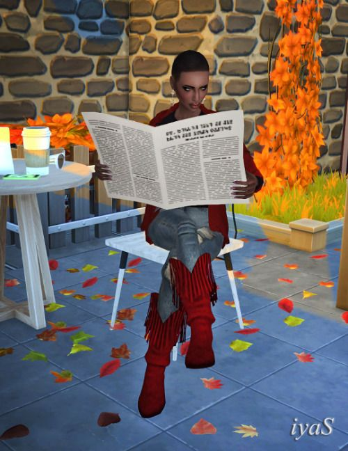 Newspaper Accessory Created For Poses Reading Newspaper By