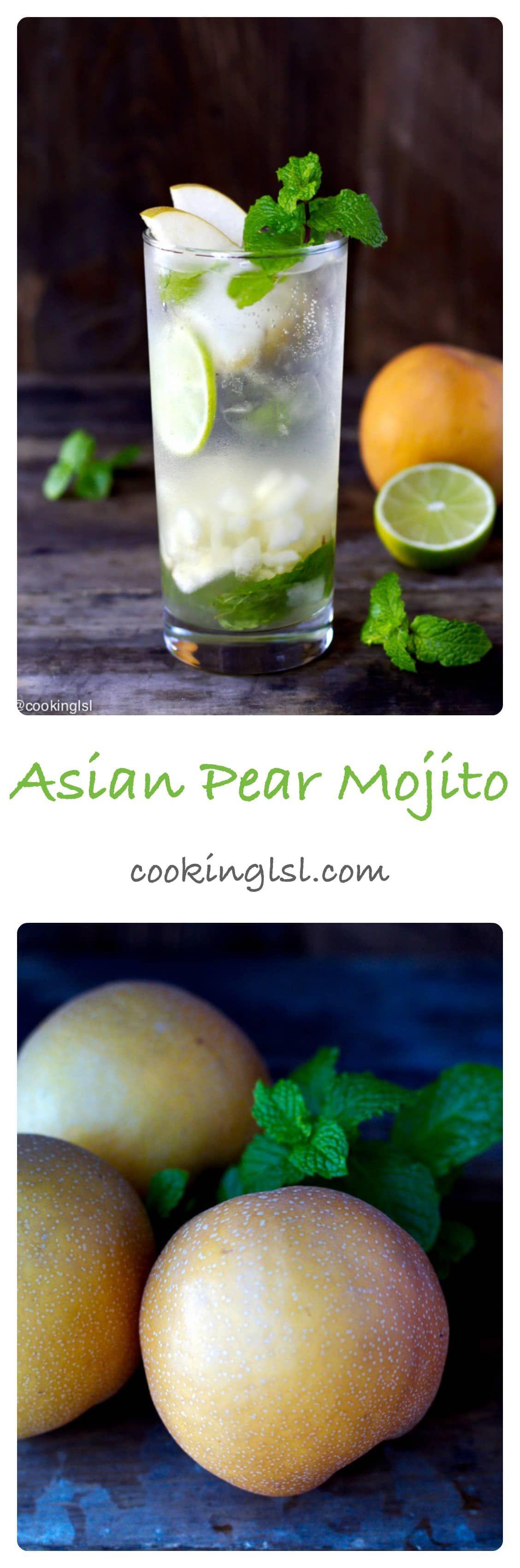 Asian Pear Mojito Recipe #simplecocktail