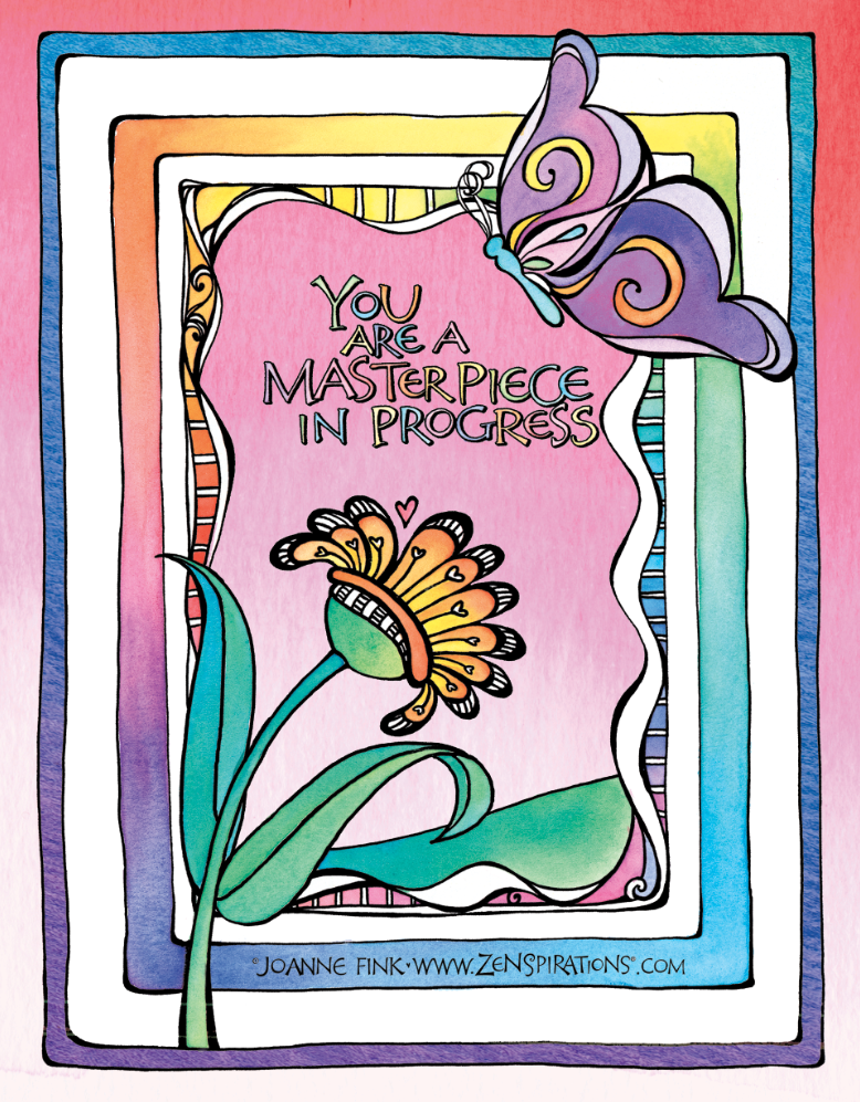 Check out Joanne's journal pages, and how they evolve into finished designs like this on this week's Zenspirations - BLOG