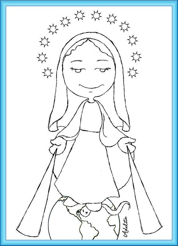 Pin Do A Mariana Matias Em Desenhos Para Pintar: Image Result For Desenhos Para Colorir Nossa Senhora