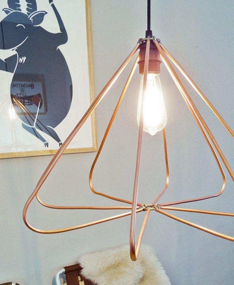 lampe aus kupferdraht selber bauen anleitung bauen pinterest lampen zuhause und kupfer. Black Bedroom Furniture Sets. Home Design Ideas