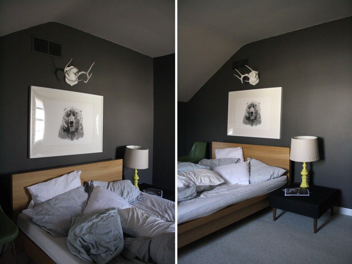 Image Result For Grey Bedroom Wood Bed Gray Bedroom Walls Grey Bedroom Decor Gray Painted Walls