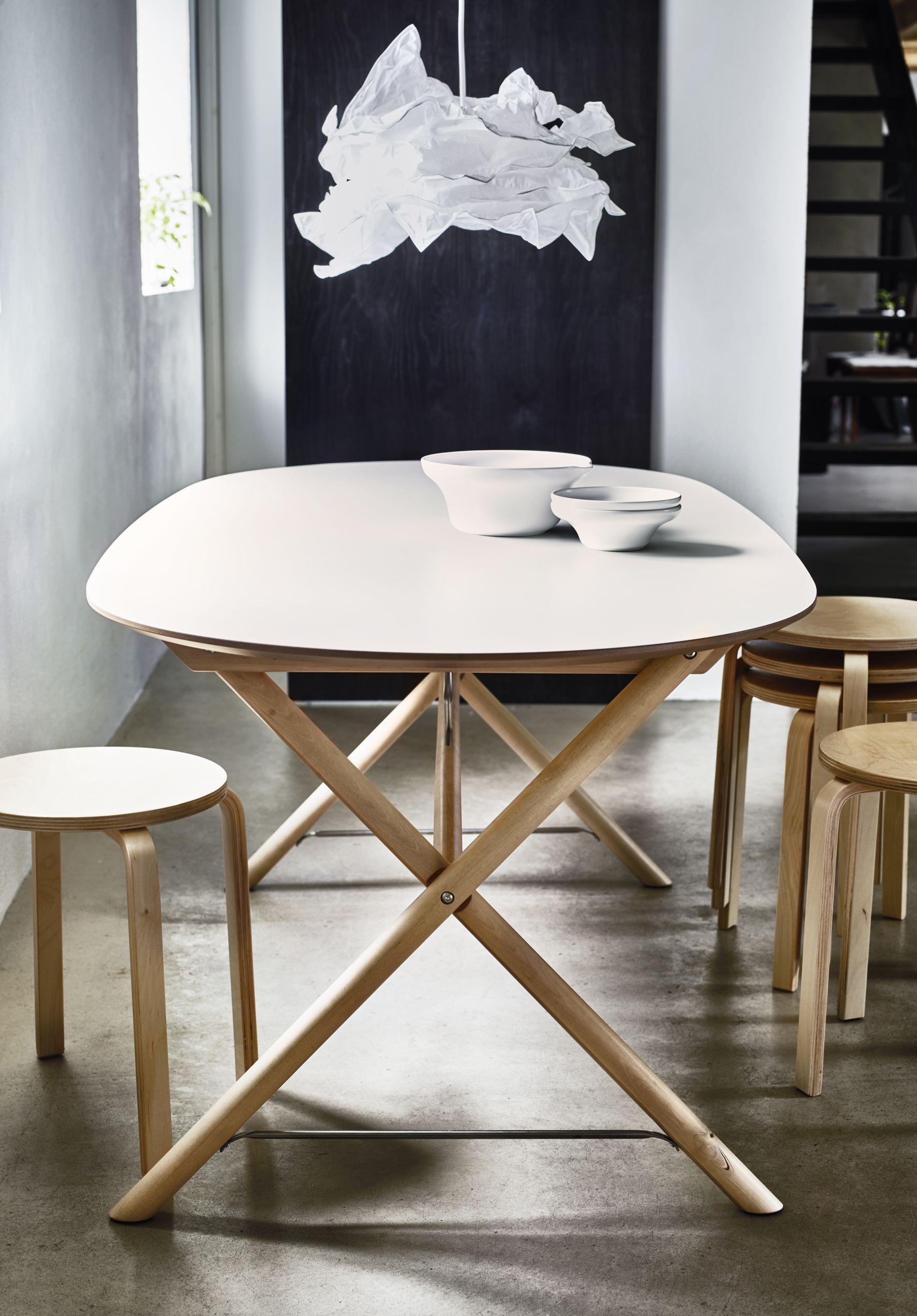 "SL""HULT Table blanc bouleau Dalshult blanc bouleau"