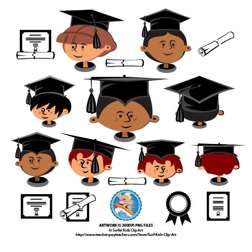This 16 Piece Graduation Caps Set Is Specially Created To Fit Your Animated Kiddies Heads I Ve Put Them On Graduation Cap Distance Learning Little Black Boys