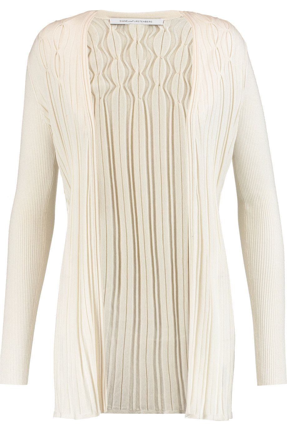 DIANE VON FURSTENBERG Bari ribbed silk and cashmere cardigan. #dianevonfurstenberg #cloth #cardigan