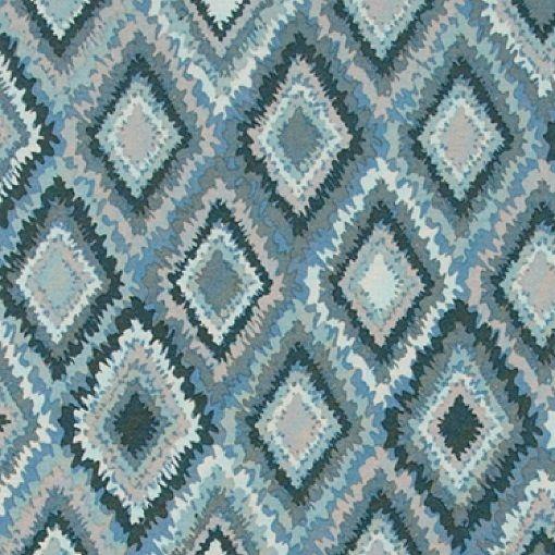 Gewebe, Blau/Petrol, abstrakt gemustert