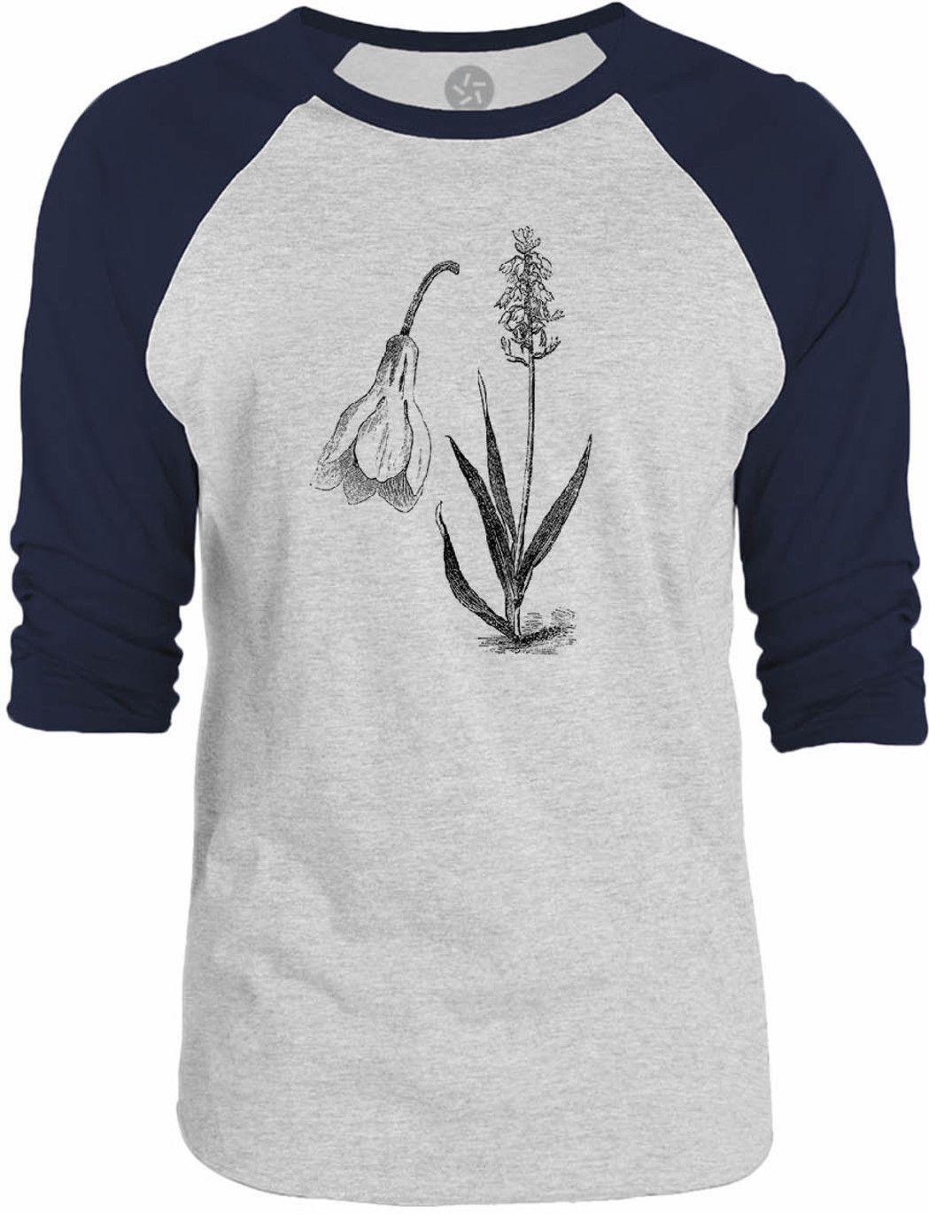 Big Texas Historical Flower Diagram 3/4-Sleeve Raglan Baseball T-Shirt