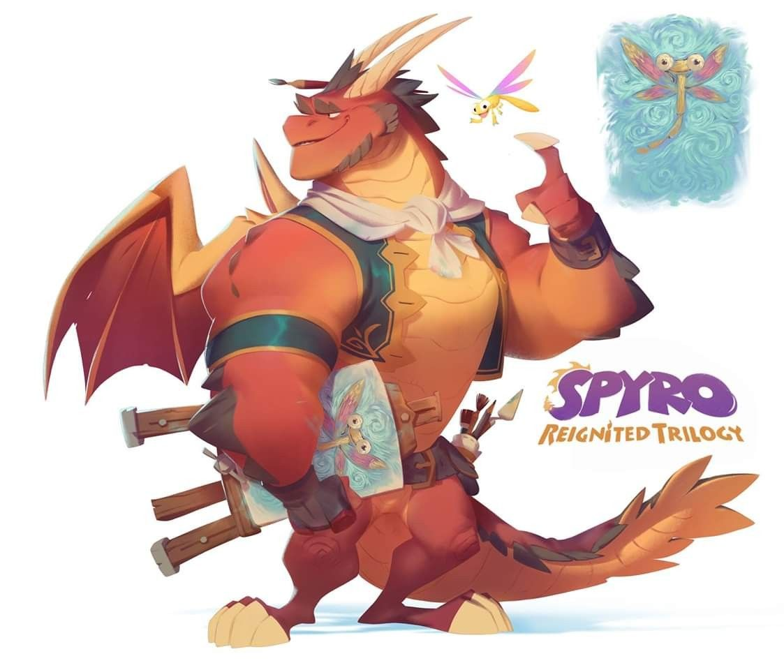 Spyro Reignited Trilogy - concept art   Spyro characters, Dragon artwork,  Concept art characters