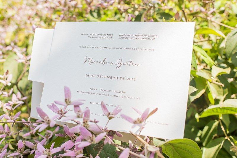 Casamento ao ar livre - Convite de casamento - Crédito: Marina Fava