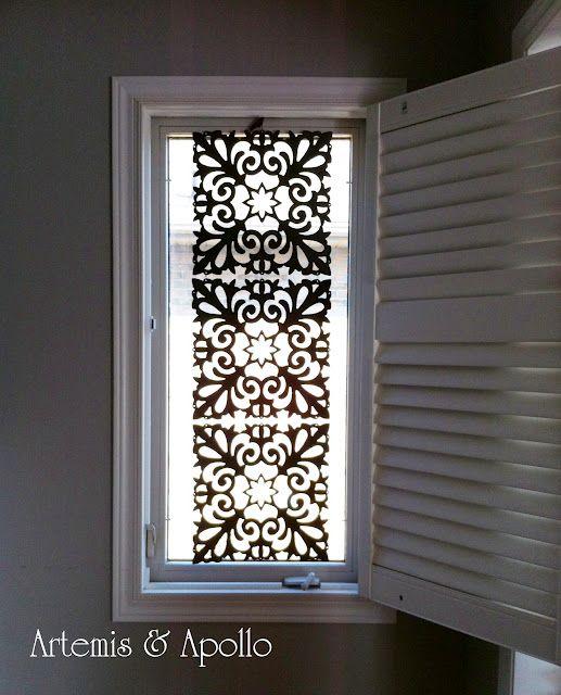 Artemis And Apollo Dollar Store Treasures Diy Window Covering Diy Window Window Coverings Diy Window Treatments