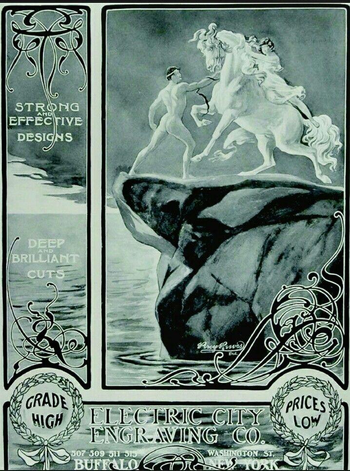 Engraving advertising 1904