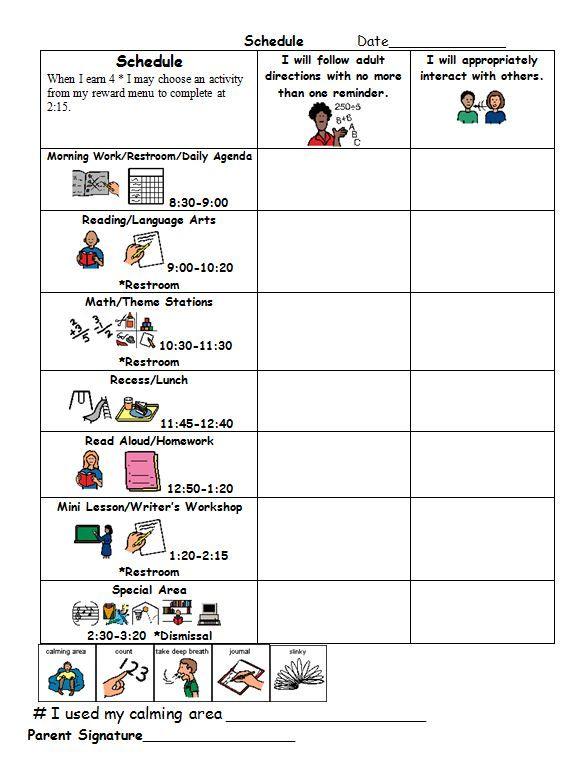 Daily Schedule Example #2 Target Skills Autism Pinterest - sample target job application