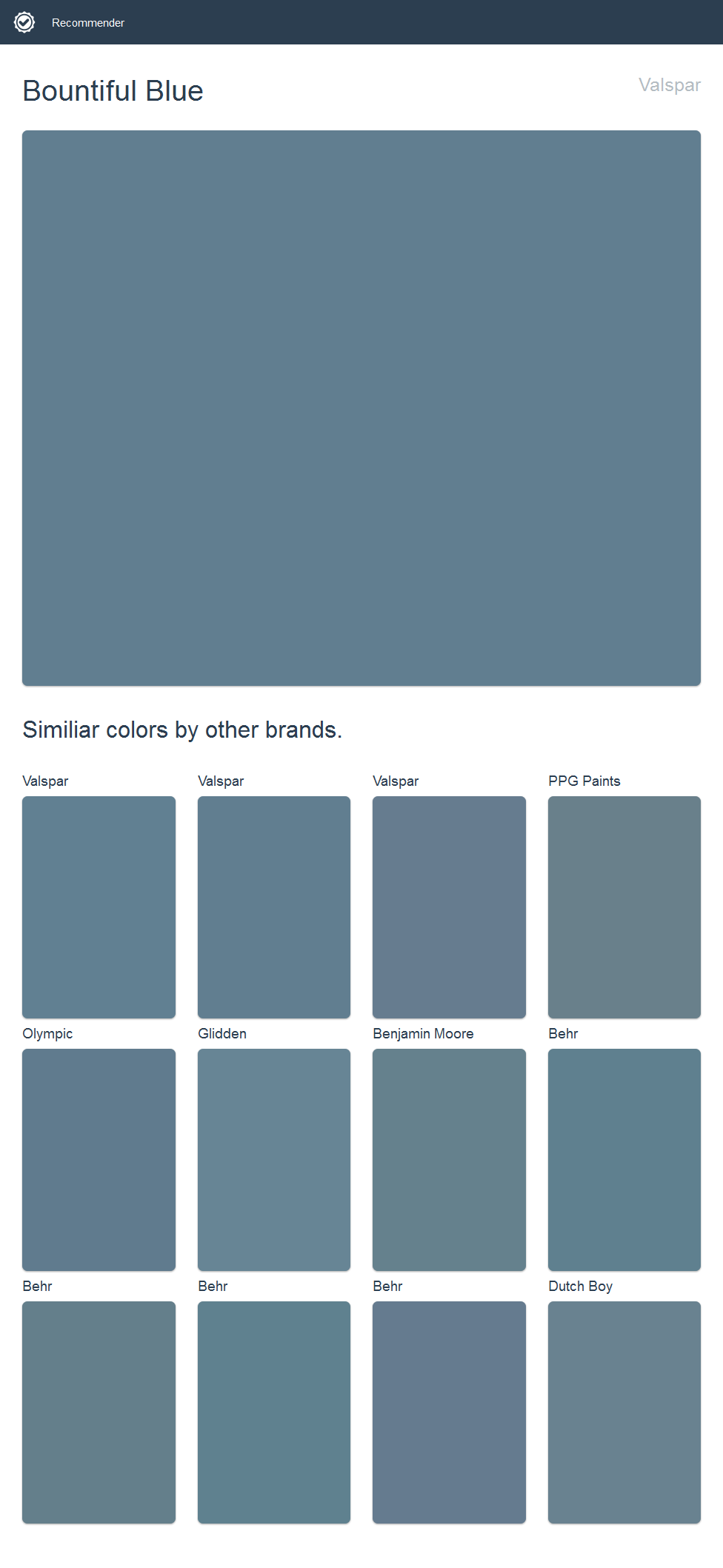 Bountiful Blue, Valspar. | 2017 - Valspar Paint | Pinterest ...