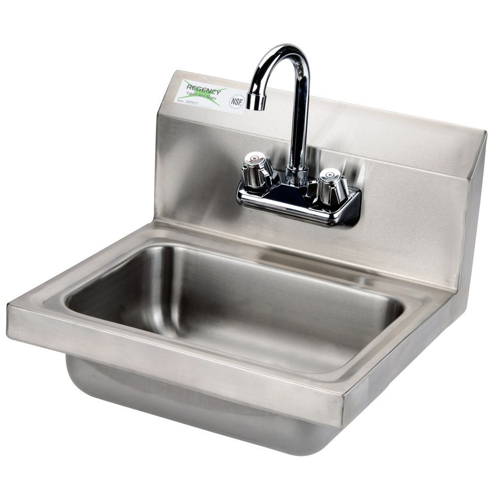 Perfect $70 Shop Regency 17 Inch X 15 Inch Wall Mounted Hand Sink With Gooseneck  Faucet.