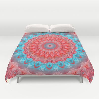 Mandala happiness of deciding Duvet Cover by Christine baessler - $99.00