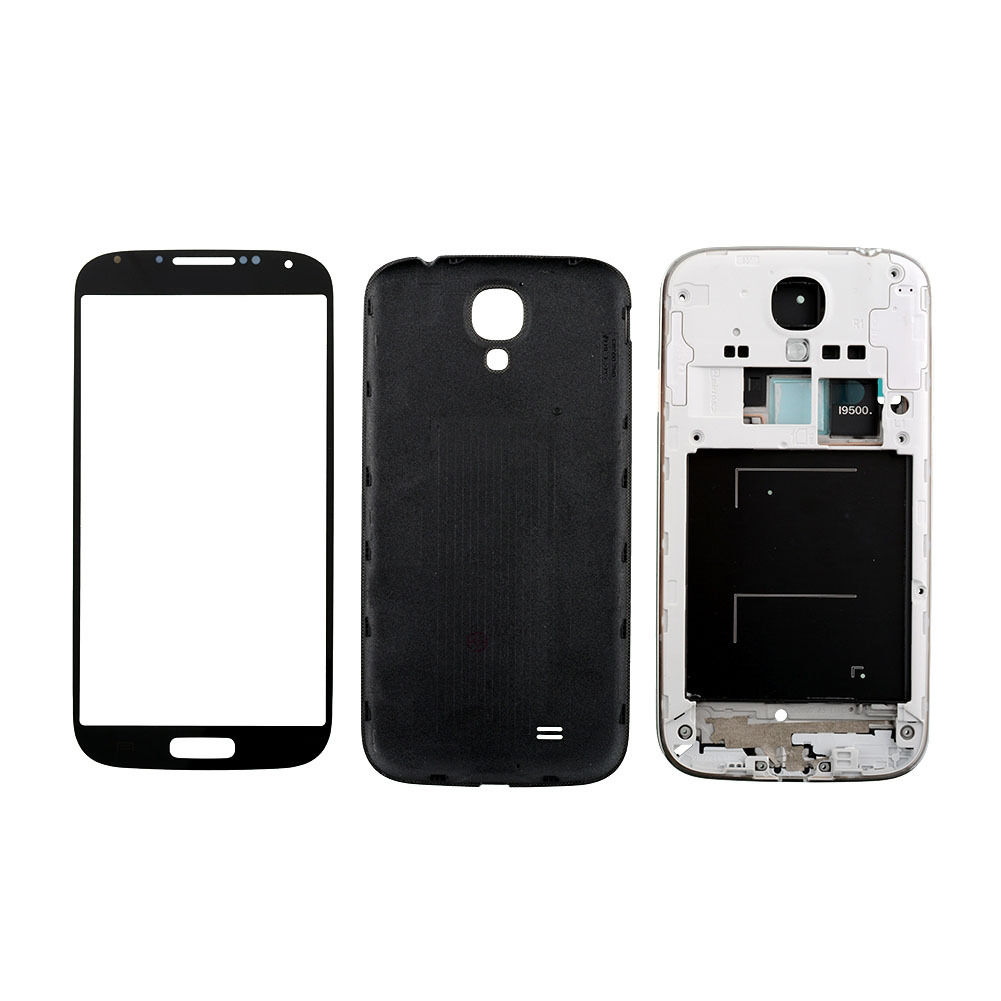 Cell Phone Parts Ebay Phones Accessories Samsung Galaxy S4 I9500 New All Black Full Housing Case Screen Glass Lens Tools For